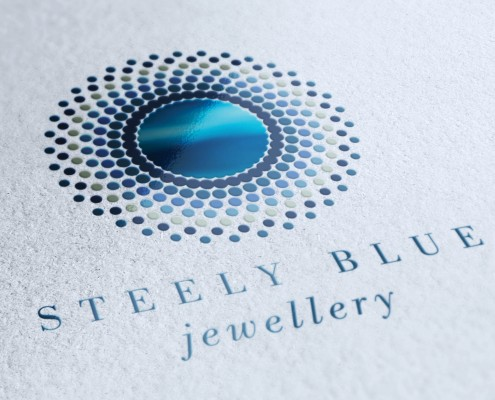 Jewellery Logo Design Brighton Brand identity Steely Blue
