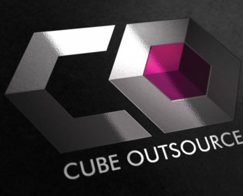 Logo design brighton Brand identity cube outsource