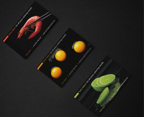 business card design logo design brighton catering